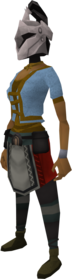 Rune heraldic helm ('horse') equipped.png: Rune heraldic helm ('horse') equipped by a player