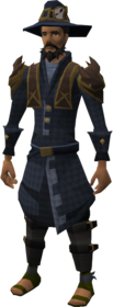 Investigator's outfit equipped (male).png: Investigator's coat equipped by a player