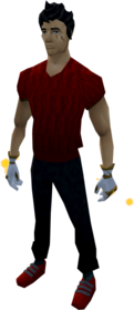 Goliath gloves (white) equipped.png: Goliath gloves (white) equipped by a player
