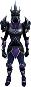 Torva armour equipped (female).png: Torva full helm equipped by a player