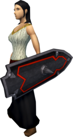 Black kiteshield equipped.png: Black kiteshield equipped by a player