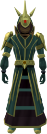 Celestial robe armour equipped (male).png: Celestial hood equipped by a player