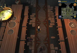 Scan clue Taverley Dungeon north side of black knight chamber.png