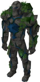 Sapphire golem outfit equipped.png: Sapphire golem gloves equipped by a player