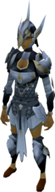 Lucky Armadyl armour equipped (female).png: Lucky Armadyl chestplate equipped by a player
