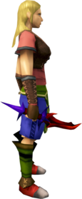Superior dragon dagger equipped.png: Superior dragon dagger equipped by a player