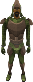 Archleather armour equipped (male).png: Archleather vambraces equipped by a player