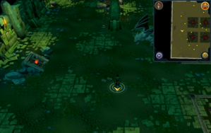 Scan clue Brimhaven Dungeon lower level west side of iron and steel dragon chamber.png