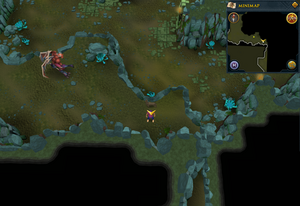 Scan clue Brimhaven Dungeon upper level south-east of greater demon area.png