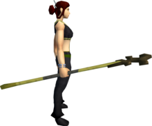 Bandos crozier equipped.png: Bandos crozier equipped by a player
