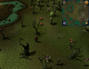 Compass clue Haunted Woods south-west of fairy ring.png
