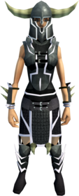 Lucky Guthan's armour equipped (female).png: Lucky Guthan's platebody equipped by a player