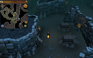 Scan clue Taverley Dungeon north-west of entrance.png