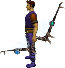 Augmented noxious longbow equipped.png: Augmented noxious longbow equipped by a player