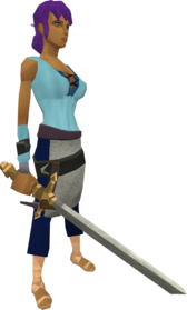 Profound decorative sword equipped.png: Profound decorative sword equipped by a player