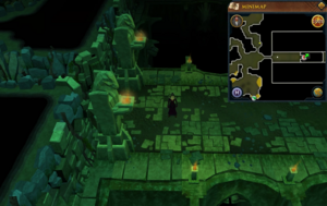 Scan clue Brimhaven Dunegon lower level east of vines.png