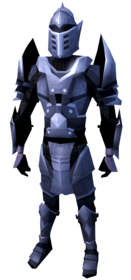 Mithril armour (heavy) equipped (male).png: Mithril platebody equipped by a player