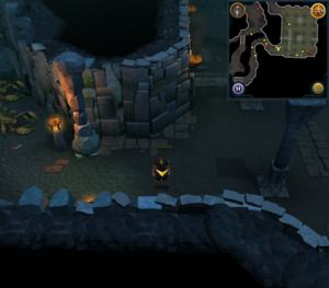 Scan clue Taverley Dungeon south-west exit of magic axe area.png
