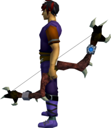 Augmented Dark bow equipped.png: Augmented dark bow equipped by a player
