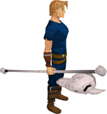 Skull sceptre equipped.png: Skull sceptre equipped by a player