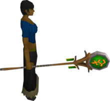 Banner of Bandos equipped.png: Banner of Bandos equipped by a player