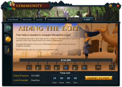 Community (Aiding the Exile) interface summary.png