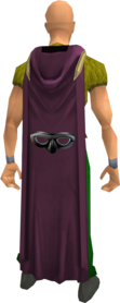 Hooded thieving cape equipped.png: Hooded thieving cape equipped by a player