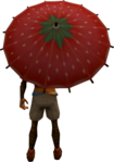 Strawberry parasol equipped.png