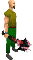 Drygore mace (blood) equipped.png