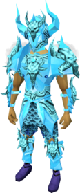 Malevolent armour (ice) equipped (male).png: Malevolent helm (ice) equipped by a player
