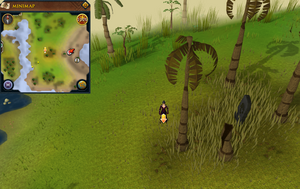 Scan clue Mos Le'Harmless west of Mos Le'Harmless Caves entrance.png