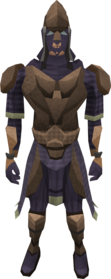 Tyrannoleather armour equipped (male).png: Tyrannoleather body equipped by a player