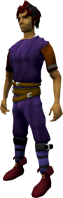 Ranger boots (red) equipped.png: Ranger boots (red) equipped by a player