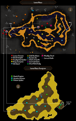 Lava Maze Dungeon mine map (historical).png