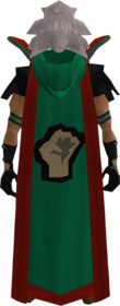 Retro hooded strength cape (t) equipped.png: Hooded strength cape (t) equipped by a player