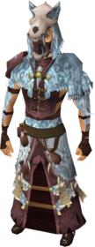 Shaman's outfit equipped (male).png: Shaman's hand wraps equipped by a player