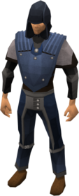 Academy ranged armour equipped.png: Academy body equipped by a player