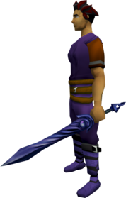 Bane off hand longsword equipped.png: Bane off hand longsword equipped by a player