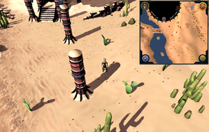 Scan clue Kharidian Desert south of Dominion Tower.png