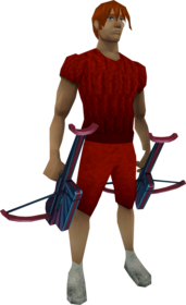 Twang crossbows equipped.png: Twang crossbow equipped by a player