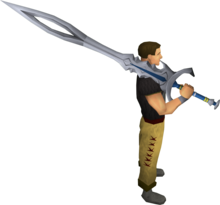 White 2h sword equipped.png: White 2h sword equipped by a player