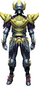 Gemstone armour equipped.png: Gemstone boots equipped by a player