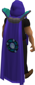 Retro divination cape equipped.png: Divination cape equipped by a player