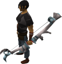 White stag bow equipped.png: White stag bow equipped by a player