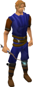 Academy wand equipped.png: Academy wand equipped by a player