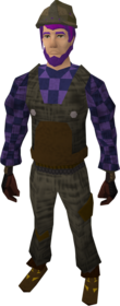 Builder's outfit equipped.png: Hard hat equipped by a player