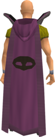Retro hooded thieving cape equipped.png: Hooded thieving cape equipped by a player