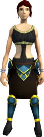 Rune plateskirt (g) equipped (female).png: Rune plateskirt (g) equipped by a player
