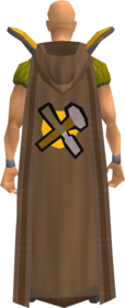 retro hooded crafting cape equipped.png: Hooded crafting cape equipped by a player