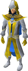Light mystic robe armour equipped (male).png: Light mystic robe top equipped by a player